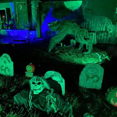 Inland Empire Yard Haunt Displays, Halloween Yard Displays Inland Empire IE Haunting Beaux's Bog Redlands