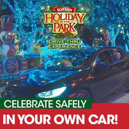 Six Flags Magic Mountain - Holiday in the Park - Drive-Thru Experience - Santa Clarita - CA - Theme Park - Installation - Holidays, Holiday Guide 2020