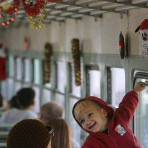 Southern California Railway Museum - Trolleys Twinkles and Treats, Holiday Event, Installation, Perris, CA, Holiday Guide 2020