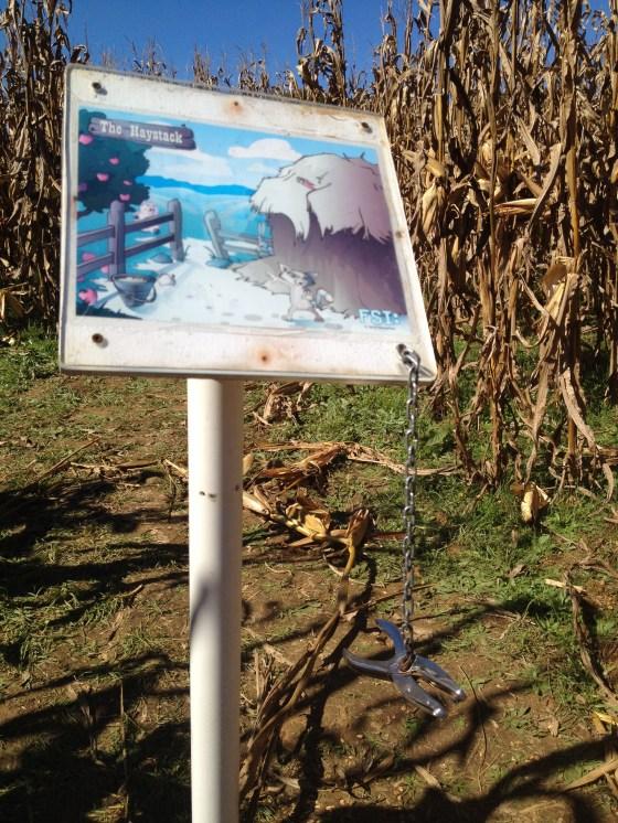 corn maze station