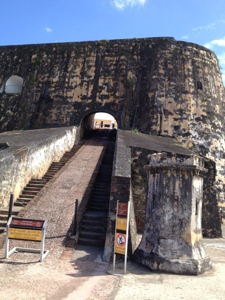 Stairs between El Morro's Lower and Main Plazas