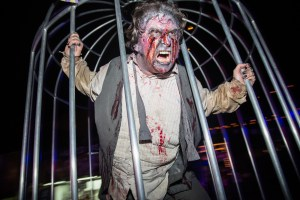 One of the Queen Mary's Dark Harbor actors