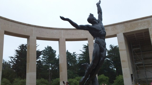 The Memorial at the Normandy American Cemetery