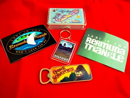Bigfoot and Bermuda Triangle souvenirs