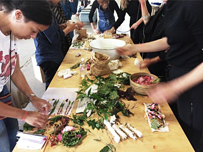 Workshop Färben mit Pflanzenfarbe