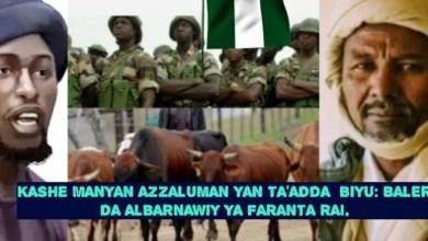 Sojojin Nigeria Sun kashe Baleri Labari Mai Farantawa