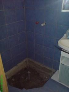 Dusche in der Werkstatt