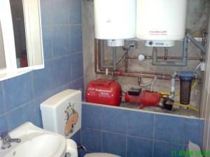 Hauswasserwerk in der Werkstatt