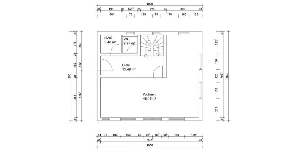 Erdgeschoss mit dem 3D Planer