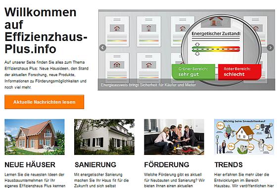 Effizienzhaus-Plus.info Screenshot