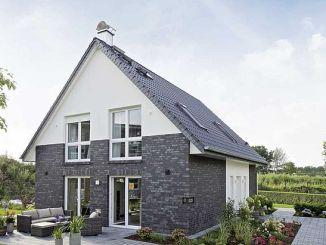 Das Viebrock-Haus Maxime 300 ist das erste Haus des Unternehmens, das die strengeren Kfw-Effizienzhaus 40 Plus Anforderungen erfüllt. (Foto: Viebrockhaus)