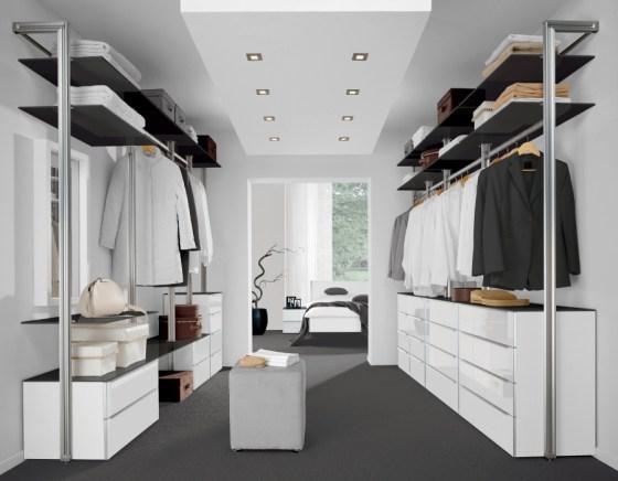 """Traversensysteme geben große Gestaltungsfreiheit bei der Einrichtung eines Raums als """"begehbarer Kleiderschrank"""". Foto: Nolte Germersheim"""