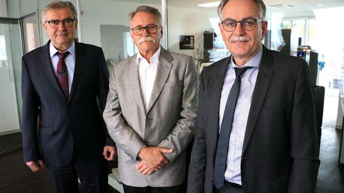 Den neuen DFH-Vorstand bilden Hermann Wüst, Siegfried Kaske und Bernhard Scholtes (v.l.n.r.). Foto: DFH