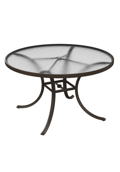 dining table 48 round acrylic top with