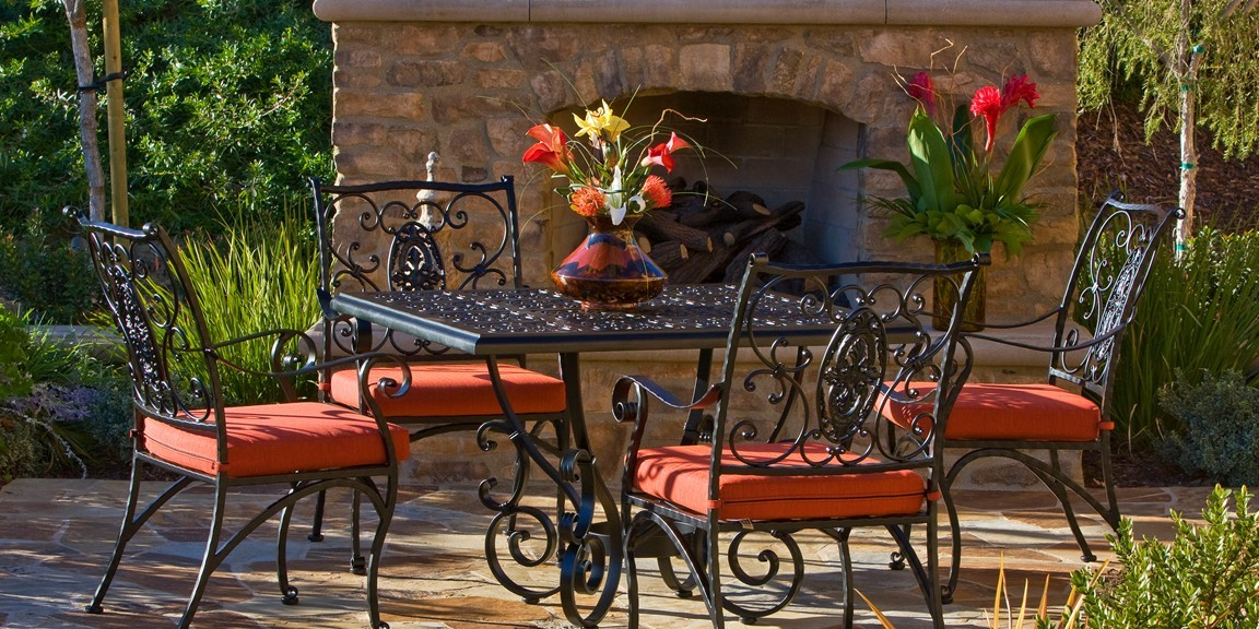 wrought iron patio furniture is perfect