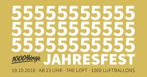 1000things 5 Jahresfest