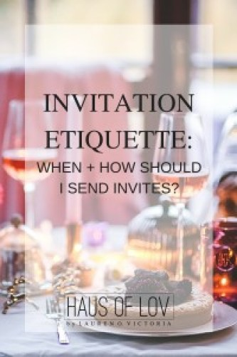 when to send invites