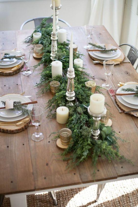 best decoration en bois pour table de noel with dcoration table de nol