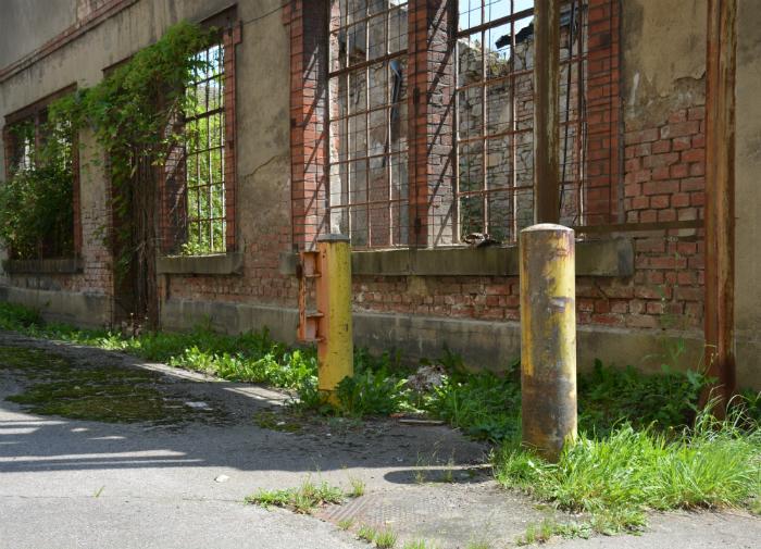 Parc de Wesserling ruïne textielfabriek