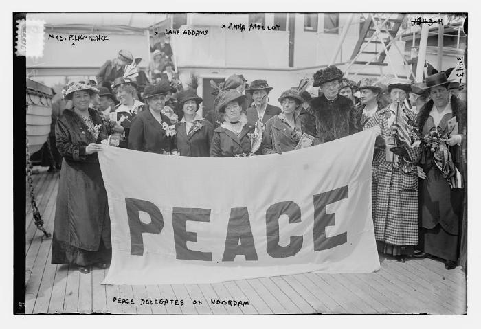 Amerikaanse delegatie Internationaal Congres voor Vrouwen 1915 workshop