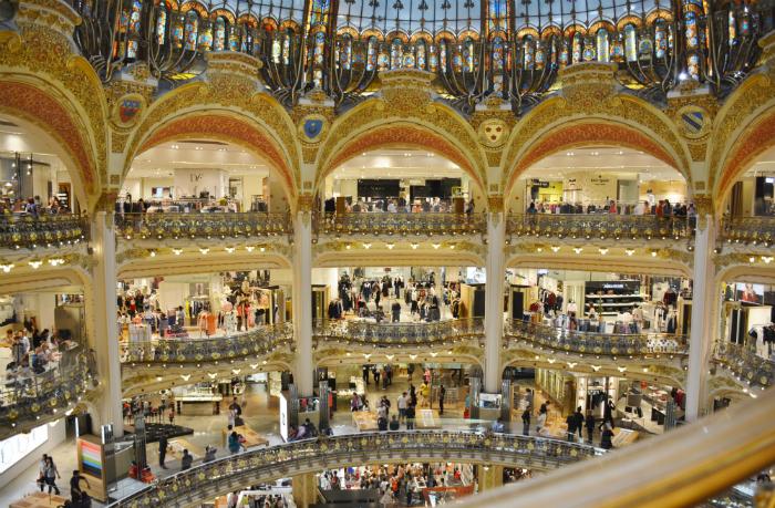 Warenhuizen in Parijs Galeries LaFayette