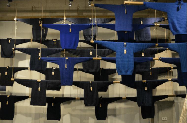 Vette visserstruien in Maritiem Museum Rotterdam