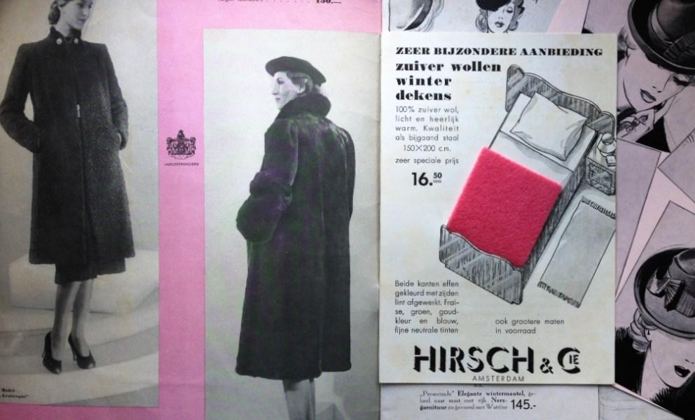 Catalogus 1939 zoektocht naar kledingstukken van Hirsch