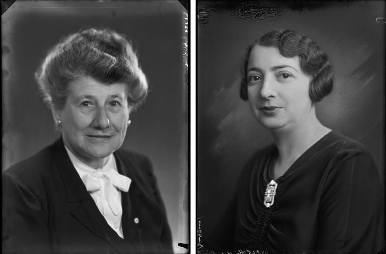 Vrouwen van Hirsch Esther Agtsteribbe en Flora Baggers-Gompers