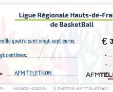 Le Basket Régional des Hauts-de-France a collecté plus de 3 400€ pour l'AFM TELETHON !