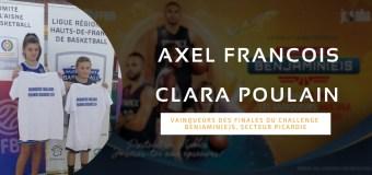 Axel François et Clara Poulain, les deux vainqueurs du Challenge Benjamin(e)s Picard