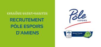 Recrutement du Pôle Espoirs d'Amiens : la liste des 22 stagiaires