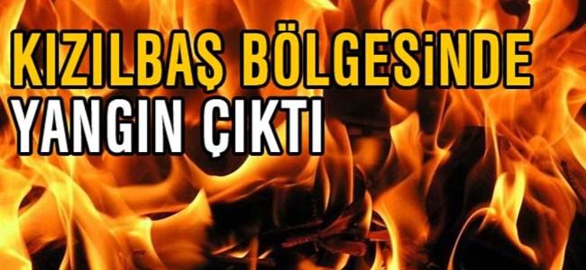 Kızılbaş bölgesinde yangın çıktı