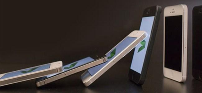 10 Bin iPhone 5'le Nefes Kesen Domino Gösterisi