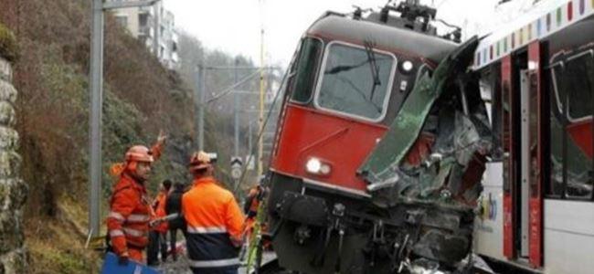 İsviçre'de tren kazası: 44 yaralı
