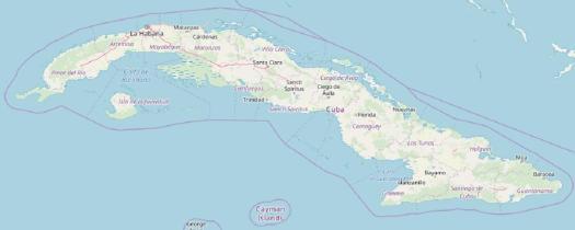 Übersichtskarte von Kuba