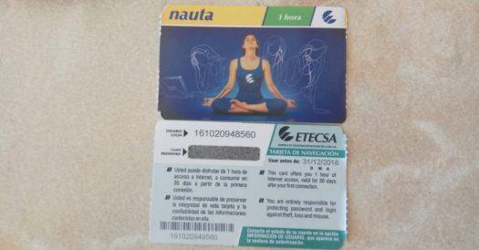 Kuba Reisetipps Prepaidkarte zur Nutzung des Internet