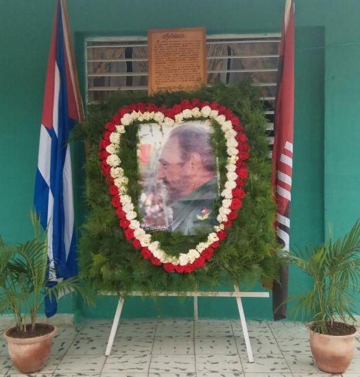 Kranz zur Erinnerung an Fidel Castro in Guantanamo