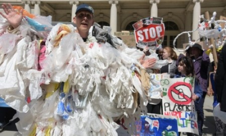 The plastic bag monster will haunt your dreams. Photograph: Andy Katz/Pacific/Barcroft