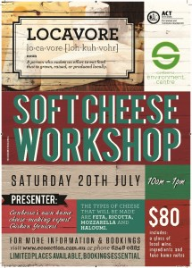 Cheese making workshop poster