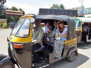 A rickshaw in India