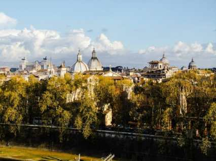 There are hundreds of churches in Rome. This is a view of just a fraction of them .