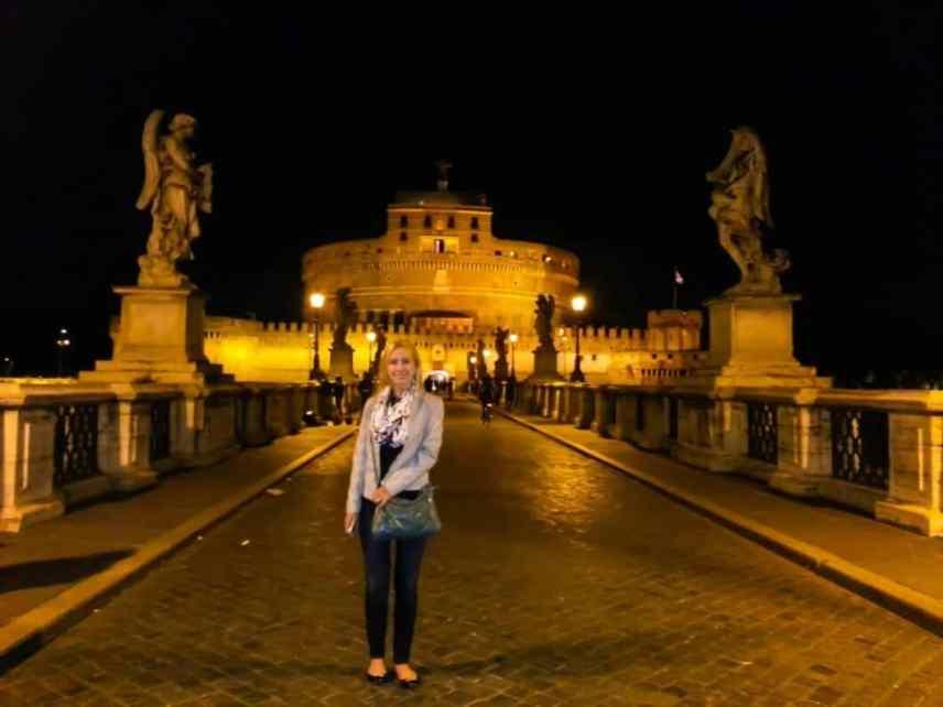 Castel Sant'Angelo at night.
