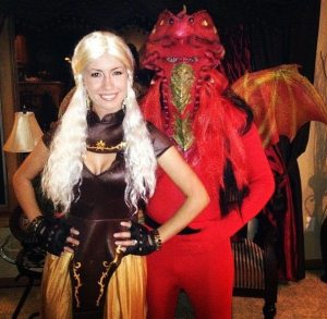 Khaleesi Halloween Costume & Dragon
