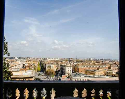 View of Rome from one of the Vatican Museum windows (which used to be where the Popes lived).