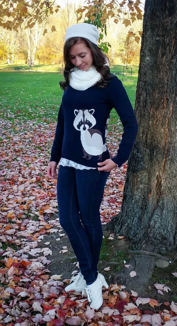 Sugahill Boutique Raccoon Sweater