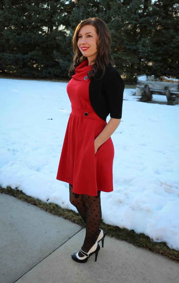 ModCloth Christmas Dress