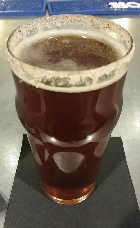 A Point Brewery Pumpkin Ale with sugar and cinnamon on the rim of the glass. To die for.