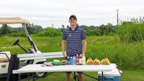 GFV sponsor, Kwik Trip, setting up their refreshment stand.