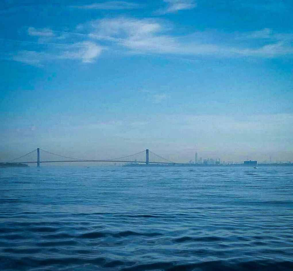 Our view of NYC while we were fishing.