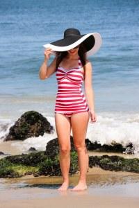 Esther Williams flattering one-piece retro swimsuit